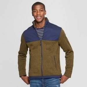 Lightweight Forest Green Navy Color Block Jacket